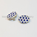 Porcelain Earring blue dot