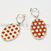 Porcelain Earring red dot