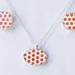 Porcelain Red Dot Pendant / Earring