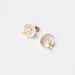 enamel pearl earring